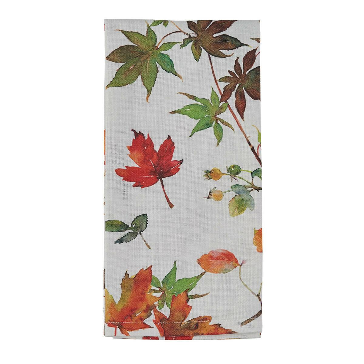 Falling Leaves Printed Towel