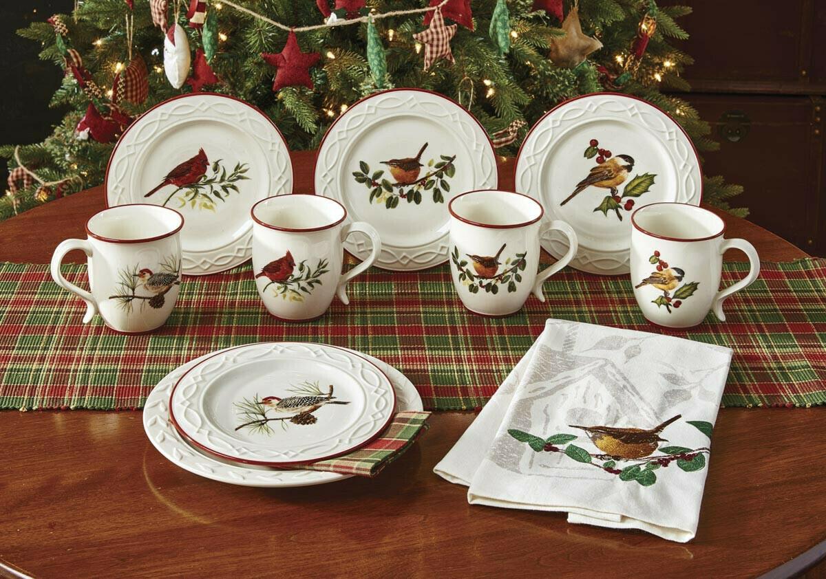 Winter Birds Dinner Plate