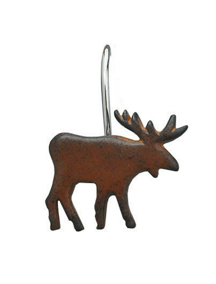 Moose Shower Curtain Hooks