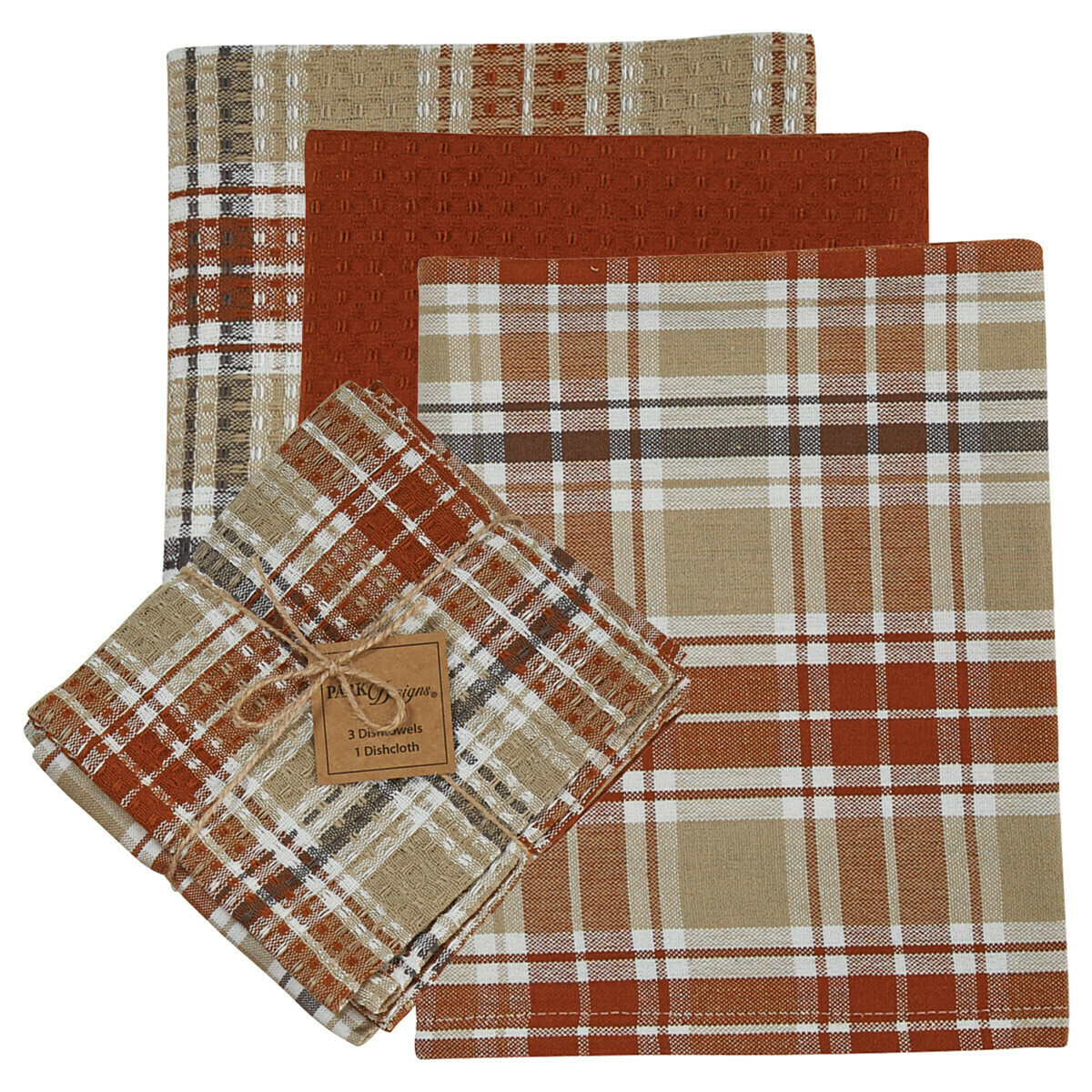 Cinnabar 3 Dishtowel & 1 Dishcloth Set