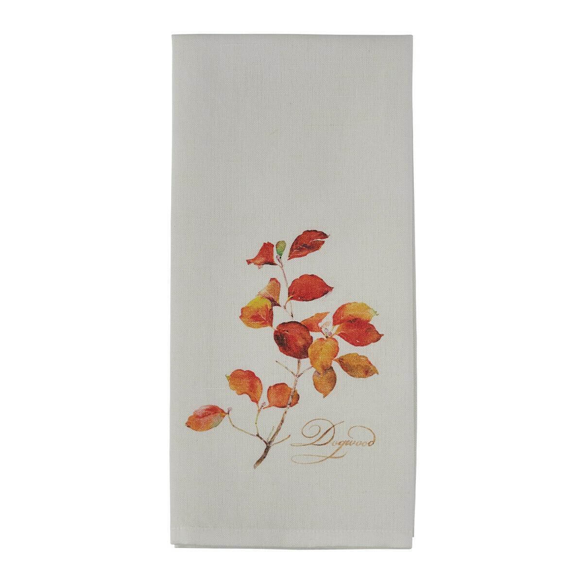 Falling Leaves Dogwood Printed Towel