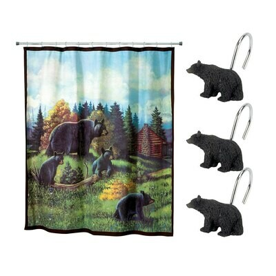Black Bear Lodge Shower Curtain Hooks
