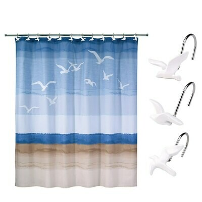 Seagulls Shower Curtain Hooks