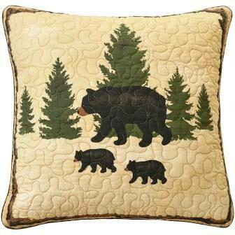 Pine Crossing Bear Pillow