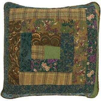 Cabin Raising Pine Cone Patch Pillow