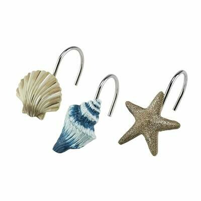 Blue Lagoon Shower Curtain Hooks