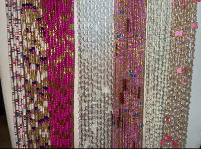 WHOLESALE TRADITIONAL TIE-ON WAISTBEADS -   50 STRANDS