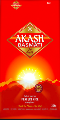 AKASH BASMATI RICE 20KG (Delivery in BRUSSELS AND GENT ONLY!)