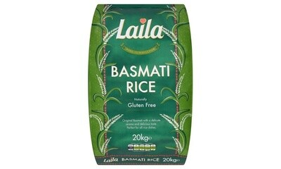 LAILA BASMATI RICE 20KG (Delivery in BRUSSELS AND GENT ONLY!)