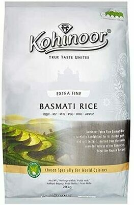 KOHINOOR BASMATI RICE EXT FINE 20KG (Delivery in BRUSSELS AND GENT ONLY!)