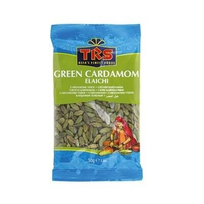 TRS GREEN CARDOMOMS 50GM