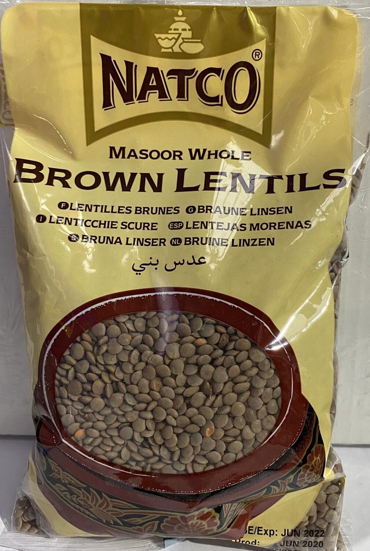 NATCO BROWN LENTILS 500GM