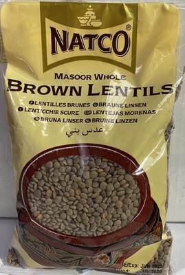 NATCO BROWN LENTILS 500GM