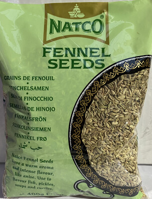 NATCO FENNEL SEEDS 400GM