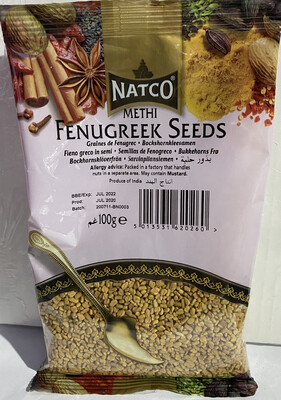 NATCO METHI SEEDS FENUGREEK 100GM