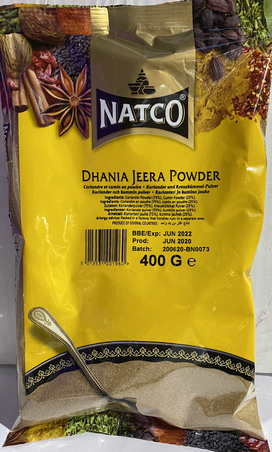 NATCO DHANIA-JEERA POWDER  400GM