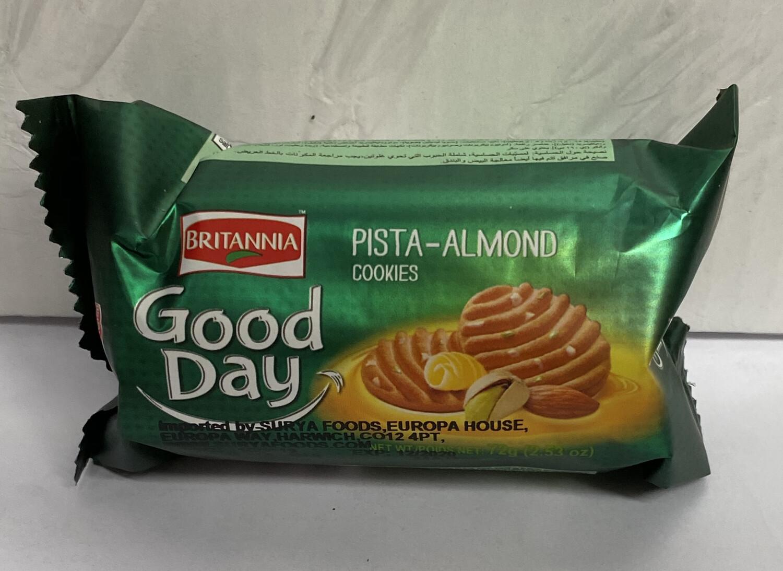 BRITANNIA GOOD DAY PISTA/ALMOND 72G