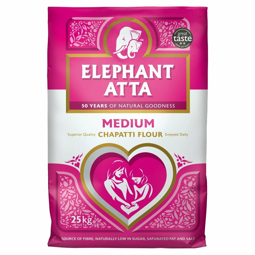 ELEPHANT ATTA 25KG (Delivery in BRUSSELS AND GENT ONLY!)