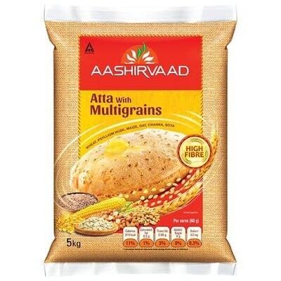 AASHIRVAAD MULTIGRAIN ATTA 5KG (EXPORT PACK)