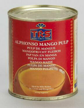 TRS CANNED MANGO PULP ALPHONSO 850GM