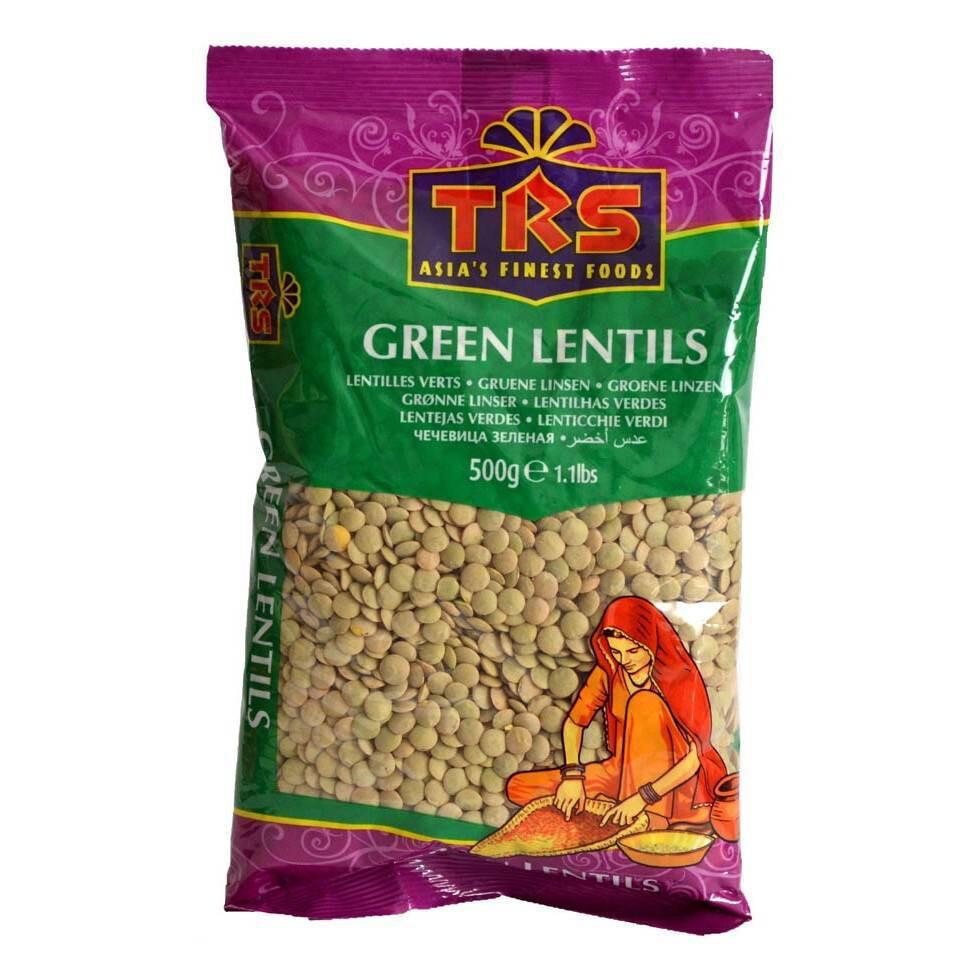 TRS GREEN LENTILS 500GM