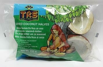 TRS DRIED COCONUT HALVES 250GM