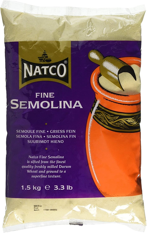 NATCO SEMOLINA FINE 1.5KG