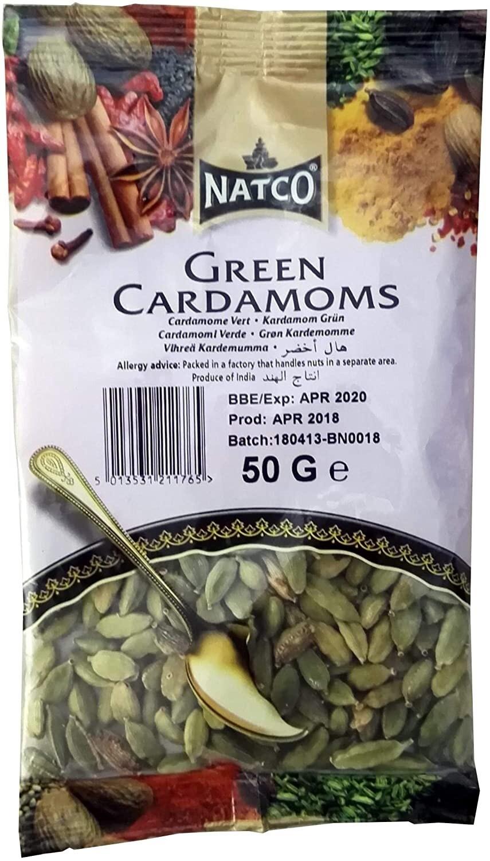 NATCO CARDAMOM GREEN 50GM