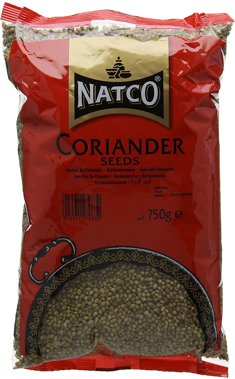 NATCO DHANIA WHOLE 750GM