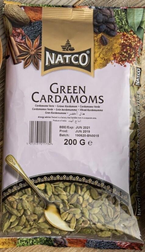 NATCO CARDAMOM GREEN 200GM