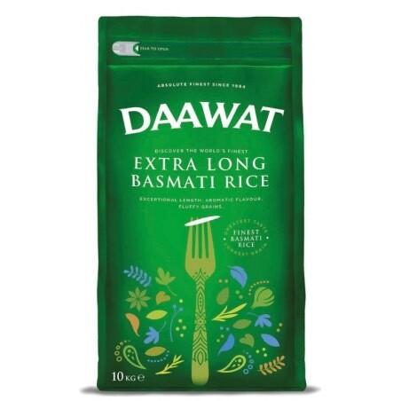 DAAWAT BASMATI EXTRA LONG 10KG (GREEN)