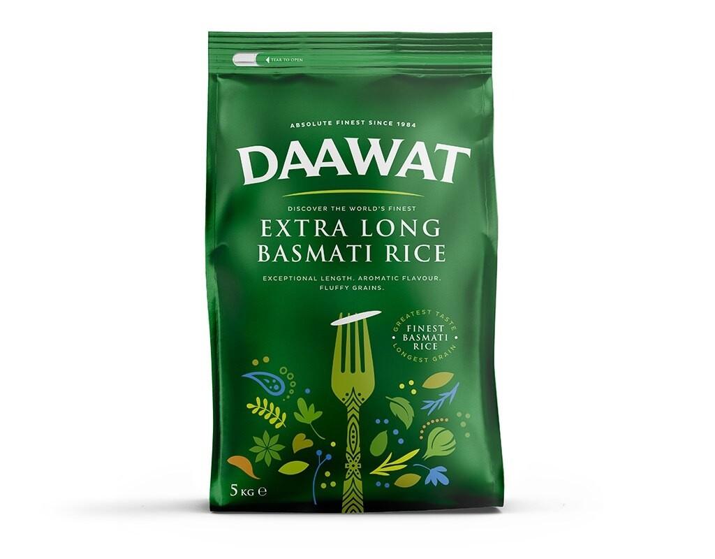 DAAWAT BASMATI EXTRA LONG 5KG (GREEN)