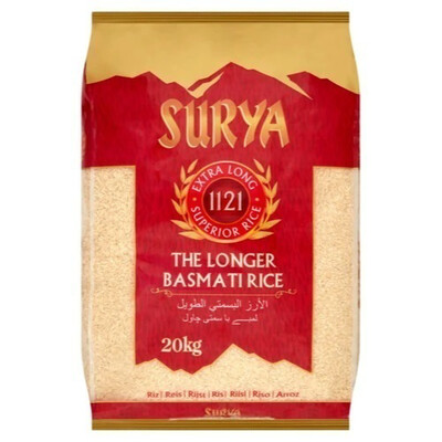 SURYA BASMATI RICE 20KG  (Delivery in BRUSSELS, GENT & MECHELEN ONLY!)
