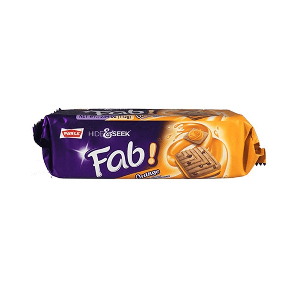 PARLE HIDE AND SEEK FAB ORANGE BISCUITS 112GM