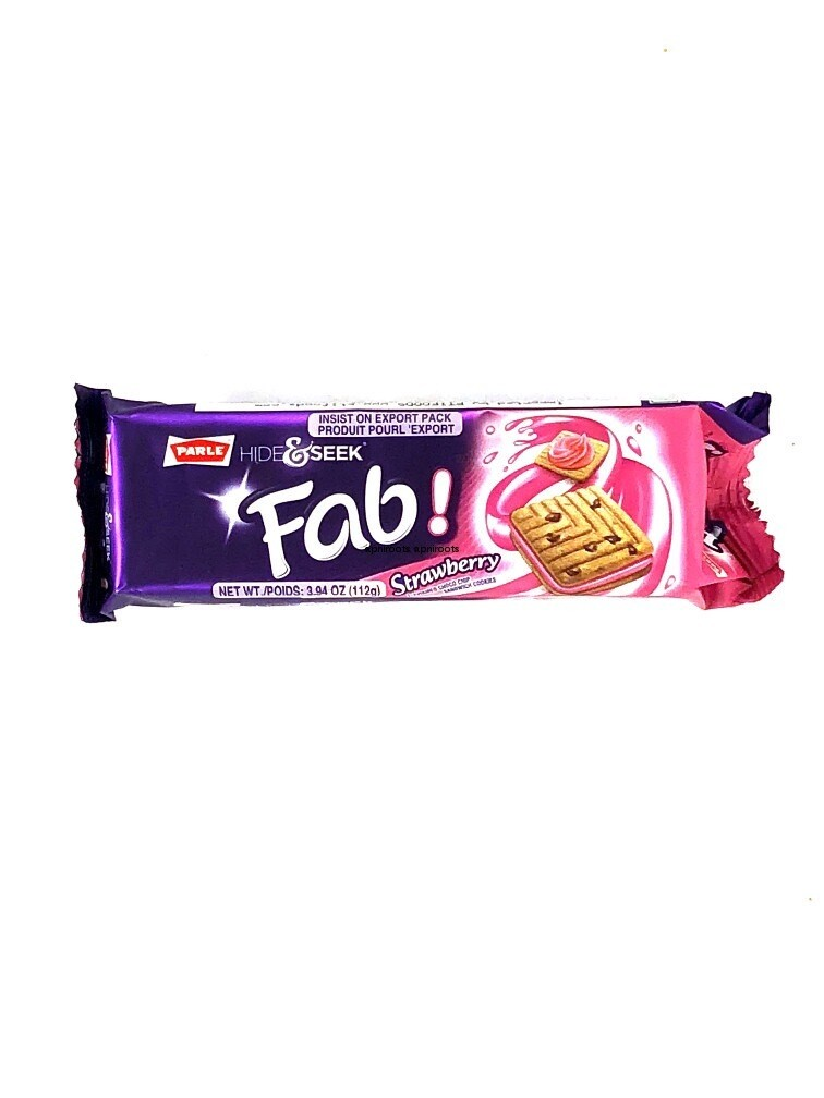 PARLE HIDE AND SEEK FAB STRAWBERRY BISCUITS 112GM