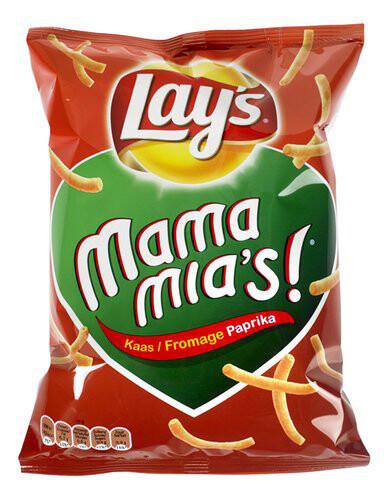LAYS MAMA MIA'S CHEESE PAPRIKA 125GM