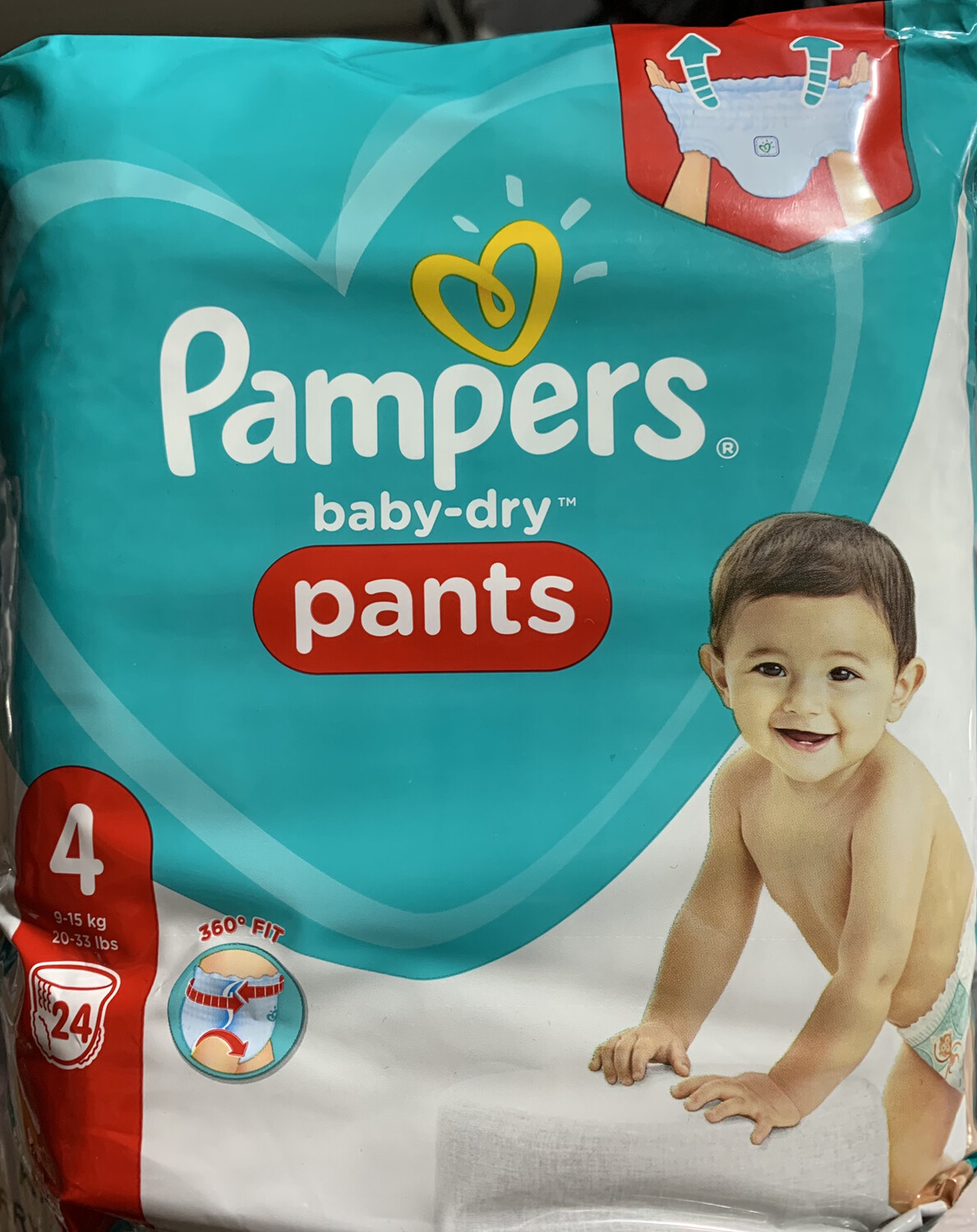 PAMPERS BABY-DRY PANTS 4 24ST