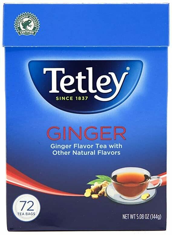 TETLEY GINGER TEA BAGS 72'S 144GM