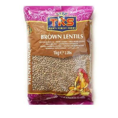 TRS WHOLE BROWN LENTILS 1KG