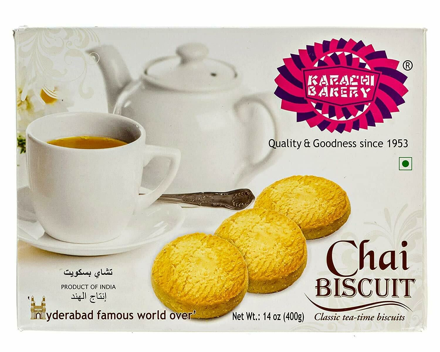 KARACHI BAKERY CHAI BISCUITS 400GM