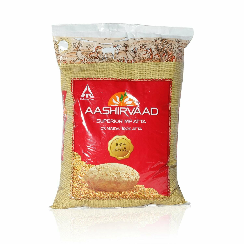 AASHIRVAAD WHOLE WHEAT ATTA 2KG (EXPORT PACK)