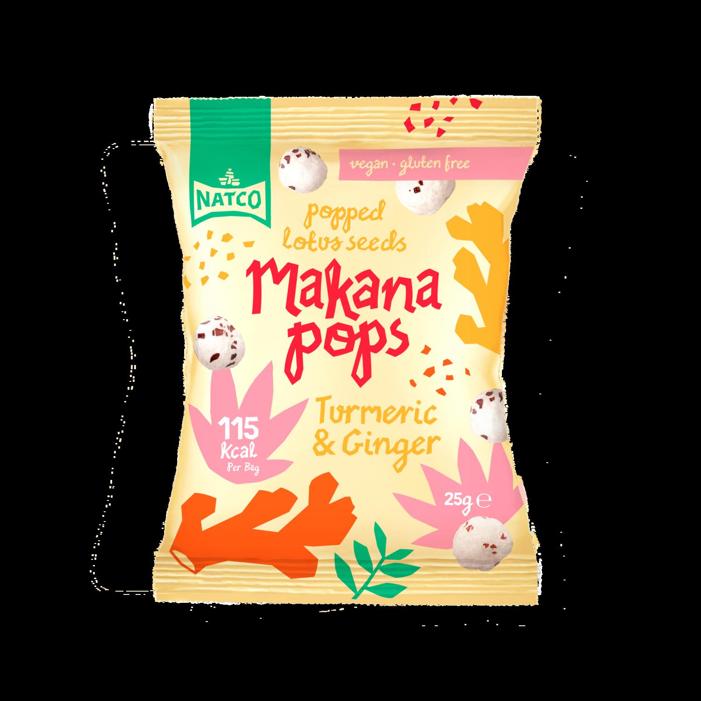 MAKANA POPS TURMERIC & GINGER 25GM (BBD 22/08/2021)