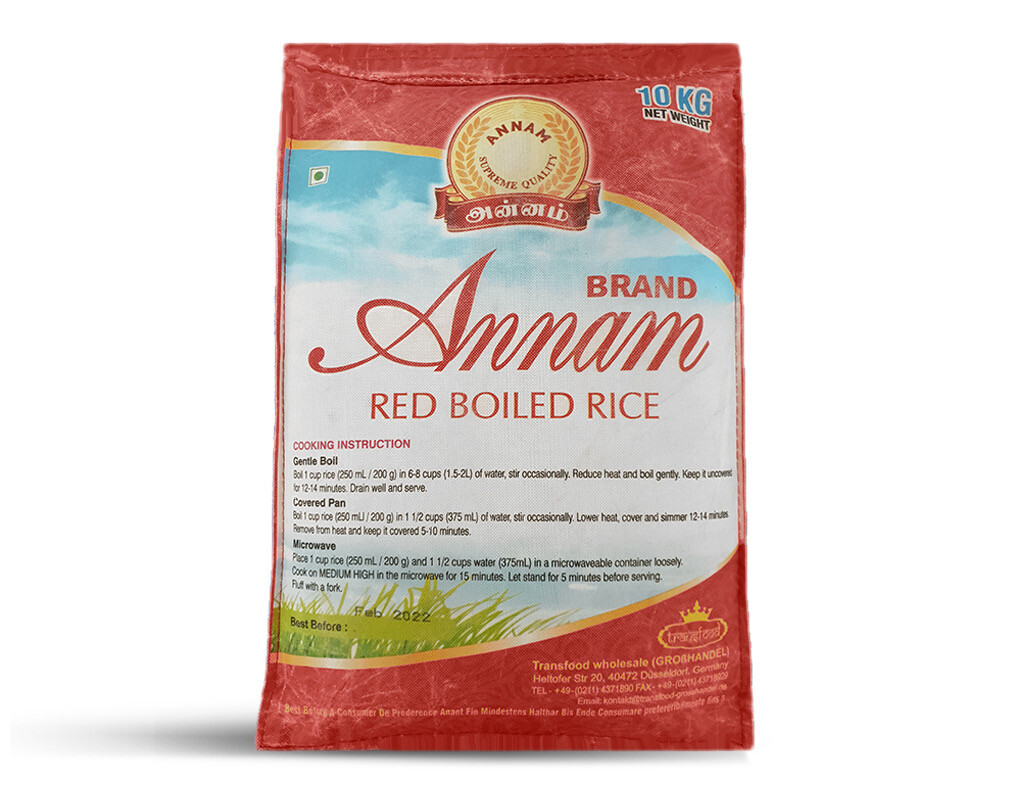 ANNAM RED PARBOILED MATTA RICE 10KG