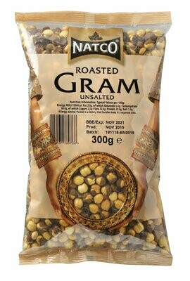 NATCO GRAM ROASTED UNSALTED 300G