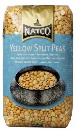 NATCO YELLOW SPLIT PEAS 2KG