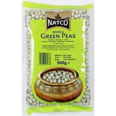 NATCO WHOLE GREEN PEAS 500G