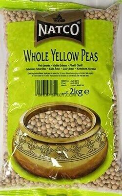 NATCO WHOLE YELLOW PEAS 2KG