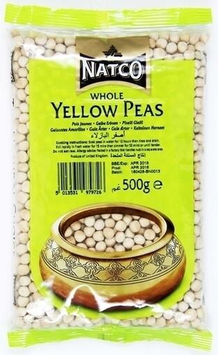 NATCO WHOLE YELLOW PEAS 500G