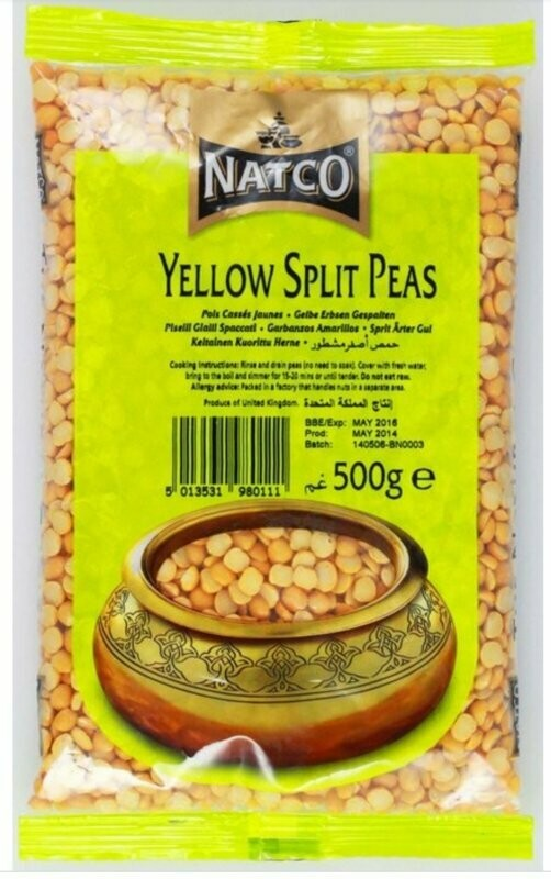 NATCO YELLOW SPLIT PEAS 500G