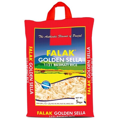 FALAK GOLDEN SELLA 1121 BASMATI RICE 5KG